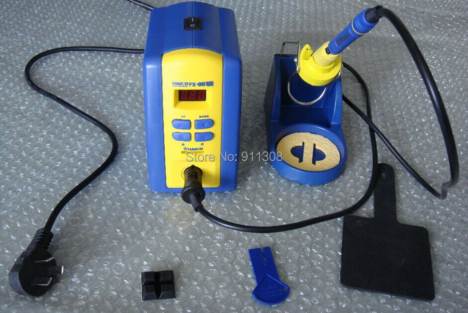 Free shipping digital ESD 220V HAKKO fx951 FX-951 Soldering Station with 1PC T12-K high quality dhl free shipping hot sale 220v hakko fx 888 fx888 888 solder soldering iron station with 10 free tips 900m t
