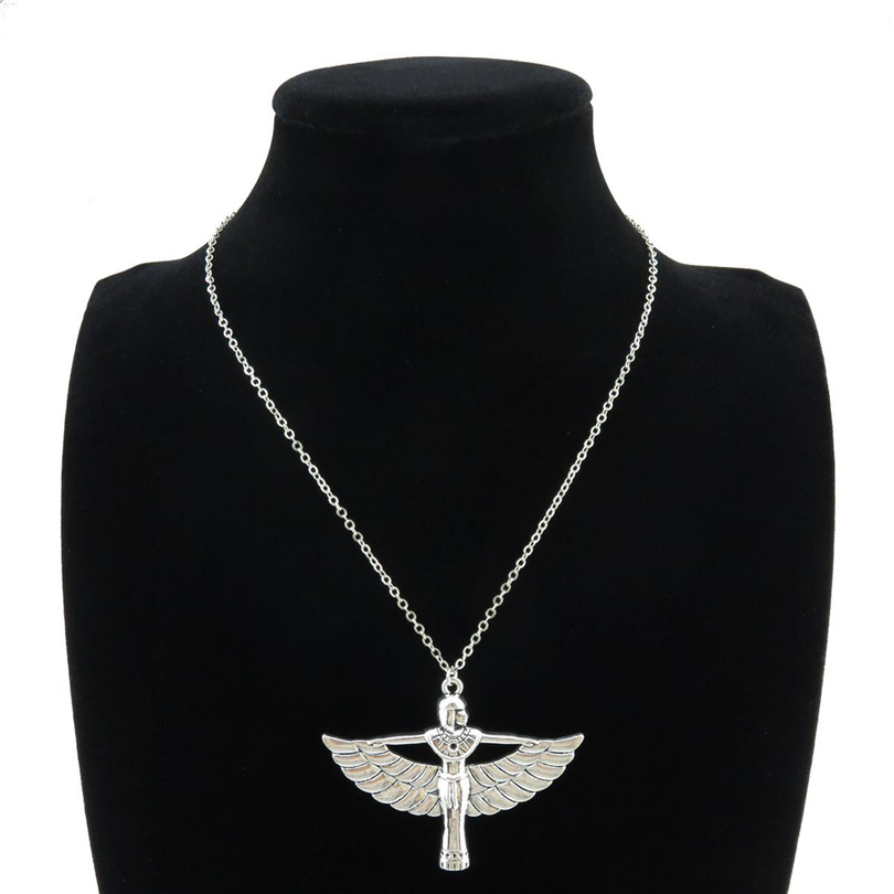 HOT Sale Egyptian Goddess Isis Ancient Egypt God Winged 18 Collar Short Choker Necklace & Pendants ...