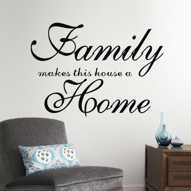Famiglia rende questa casa una casa lettere stickers murali per ...