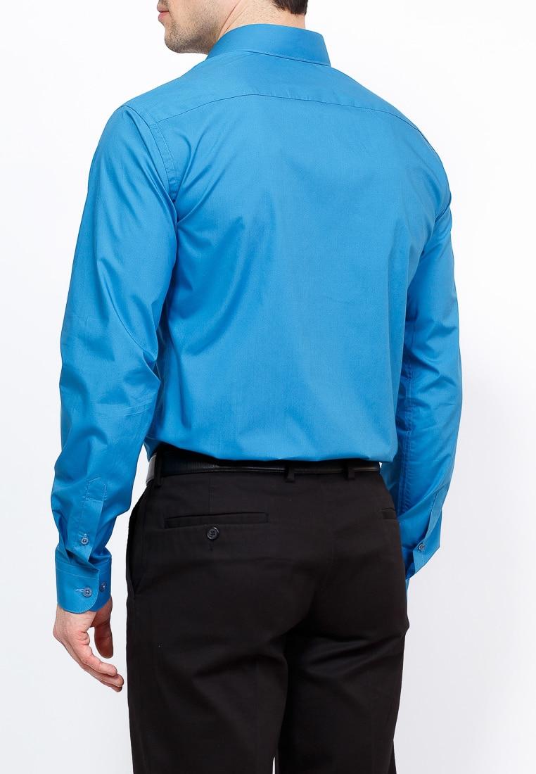 Shirt men's long sleeve GREG 230/131/NB/Z Blue 3d bird and flower printed plain fly shirt collar long sleeves shirt for men