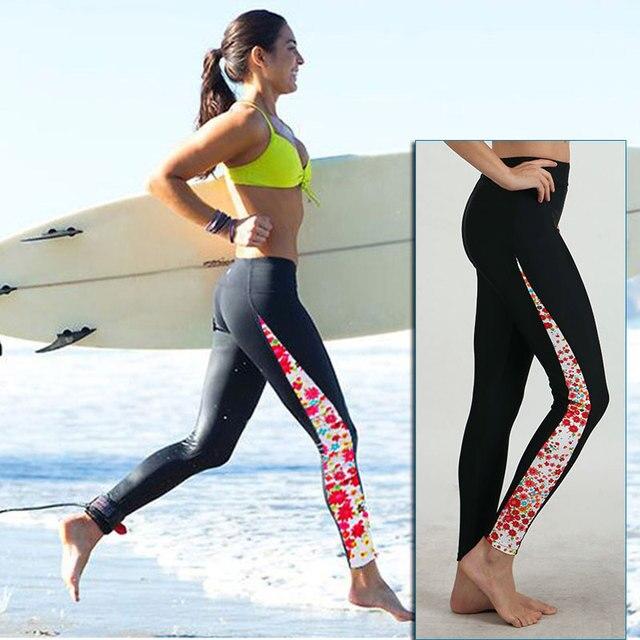 9008f535b4 Donne In Esecuzione Collant Donna Correre Pantaloni Stampa Corsa Leggings  Stampa Ragazze Pantaloni di Lycra per