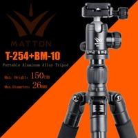Matton T 254+BM 10 Professional Camera Tripod Single Handle Hydraulic Damper Head Suit Tripe Tripodes Accessories