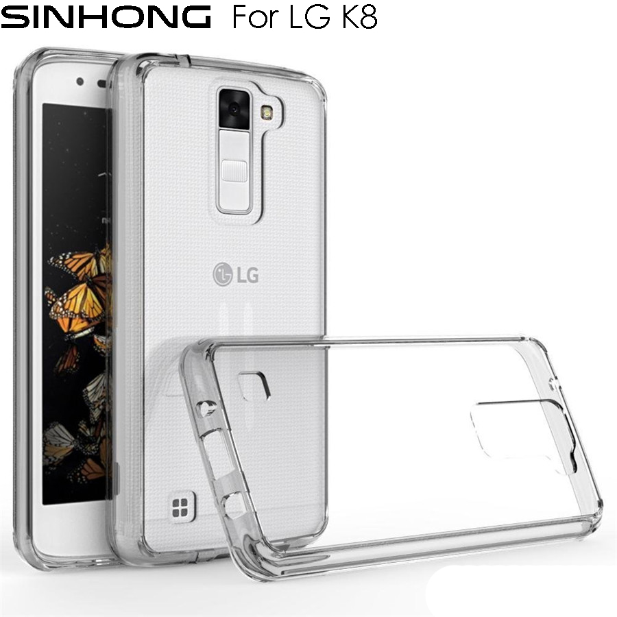 Ultra Thin Transparent Silicon Case For LG K8 ( 2016 ) Phoenix 2 Escape 3 Cover Silicone Clear TPU Slim Gel Protective Back Cas