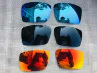 3 Pairs Black & Ice Blue & Fire Red Polarized Replacement Lenses Lens for Eyepatch 1&2 Sunglasses