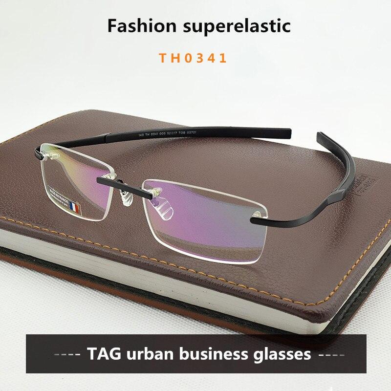 12a9a328b8 2018 Frameless Eyeglasses Brand TAG Hezekiah Myopia Glasses Frame ...