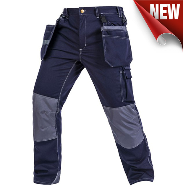 Bauskydd High quality men's wear-resistance multi-pockets work trousers cargo work pant workwear construction mechanic 3