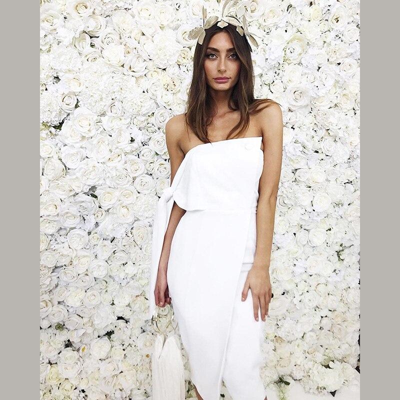 classcic haut de gamme authentique nouvelles promotions Designer Tricoté Parti Sexy Blanc Bretelles Arrivée Robe D ...