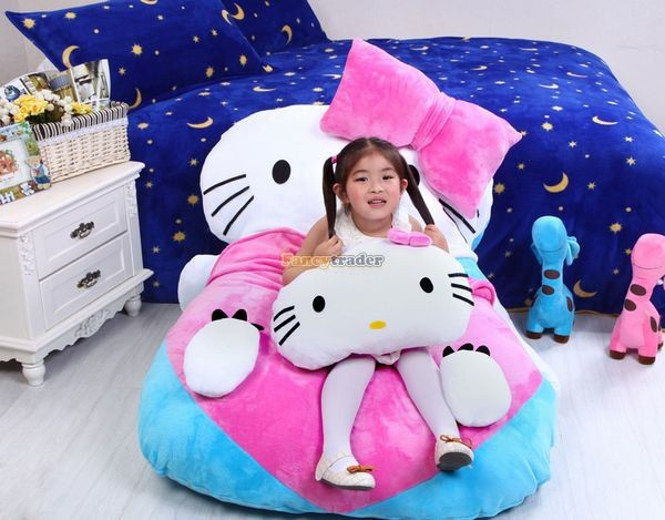Fancytrader 140cm X 100cm  Giant Lovely  Hello Kitty Bed Carpet Sofa Tatami for Kids, Free Shipping FT50311  (6)