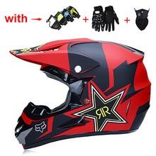 Шлем для мотокросса, шлем для мотокросса, шлем для взрослых с перчатками/очками/маской