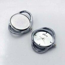 Shsby Diy บุคลิกภาพรูปไข่เงินทองหัวนาฬิกาเชือกวงกลมตาราง core watchband นาฬิกาอุปกรณ์เสริมขายส่ง