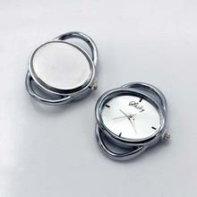 Shsby Diy kişilik oval Altın gümüş saat başlık halat daire masa çekirdekli kordonlu saat aksesuarları toptan