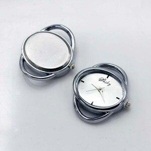 Image 1 - Shsby cá tính Tự Làm hình bầu dục Vàng bạc Xem tiêu đề vòng tròn dây bảng lõi watchband phụ kiện Đồng Hồ bán buôn