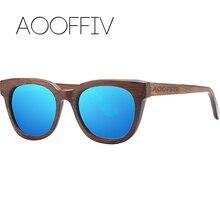 AOOFFIV Wood Sunglasses Women Polarized Lens Sun Glasses Bamboo Frame Eyewear 2017 New Designer Shades UV400 Protection ZB22