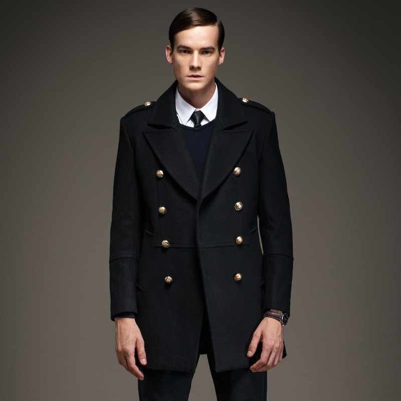Mens wool military coat online shopping-the world largest mens ...