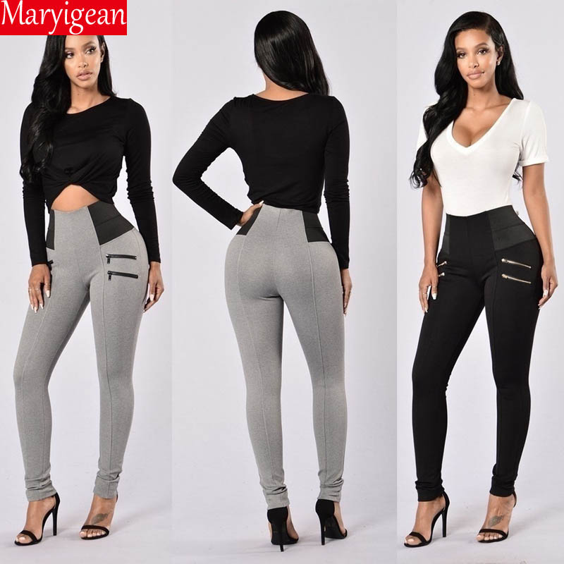 Maryigean Slim Fit High Waist Push Up Leggings Women Fashion Pacthwork Workout Fitness Legging Bodybuilding Sexy Female Pants 4