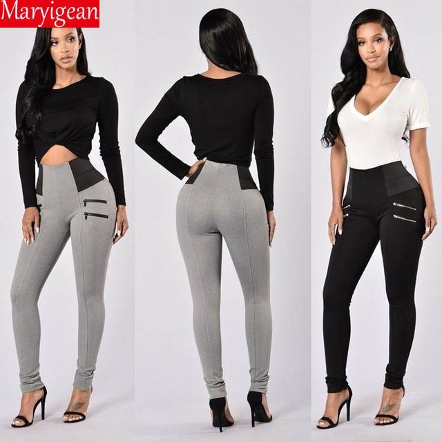 Maryigean Slim Fit High Waist Push Up Leggings Women Fashion Pacthwork Workout Fitness Legging Bodybuilding Sexy Female Pants 6