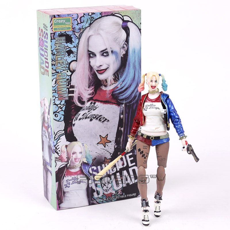 Crazy Toys Suicide Squad Harley Quinn / Joker 1/12th Scale PVC Action Figure Collectible Model Toy 7inch 18cm neca marvel legends venom pvc action figure collectible model toy 7 18cm kt3137