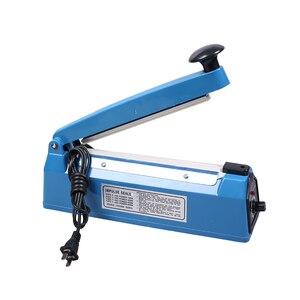 Image 2 - 고품질 ac 110 v/220 v, 50 hz 임펄스 실러 수동 열 씰링 기계 알루미늄/플라스틱 오픈 탑 가방 식품 저장 가방