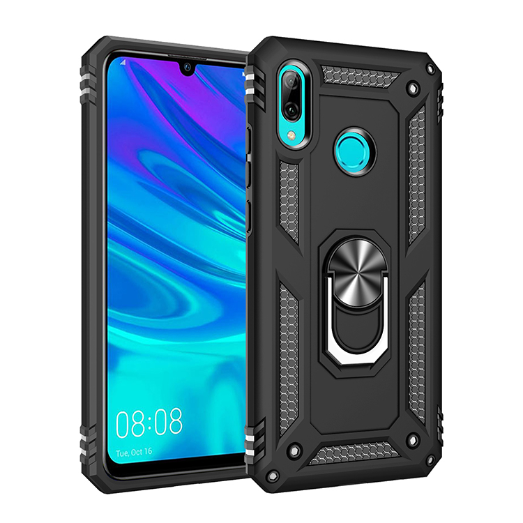 100pcs lot Ring Holder Shockproof Armor back Case For Huawei P Smart Plus 2019 Enjoy 9S