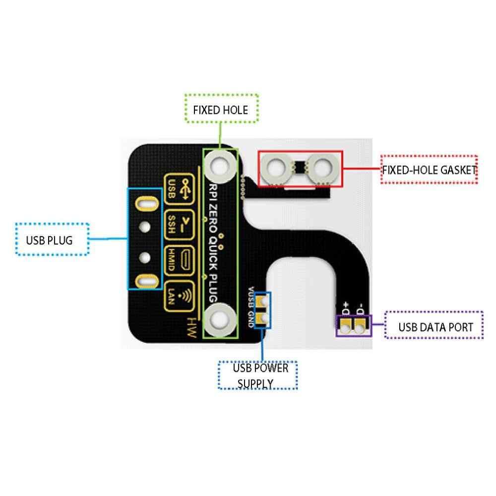 USB Adapter Board For Raspberry Pi Zero Zero W Zero WH USB Expansion Board USB Type-A Connector No Data Line Required