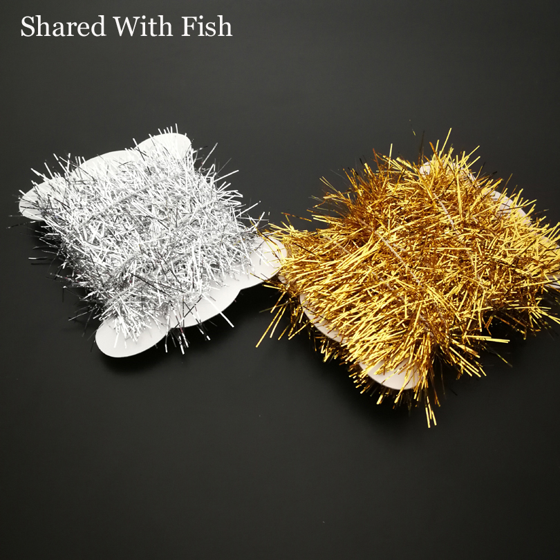 1 Card/Set 3meters Assorted Fly Fishing Tinsel Chenille Crystal Flash Line Rig Baits Making Fly Tying Streamer Flies Material