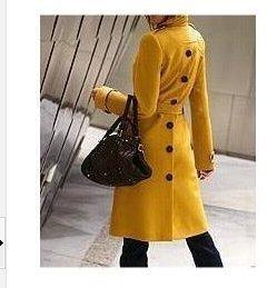 New 2015 Women Wool Coat Autumn Winter Wool Jacket Poncho Fashion Medium-Long Casual Trench Overcoat Elegant Desigual Coat T086