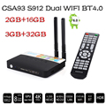 CSA93 3 GB RAM 32 GB ROM Android 6.0 TV Box 2 GB 16 GB Amlogic S912 Octa Core Streaming Reproductor Multimedia Inteligente Wifi BT4.0 4 K TV box TV