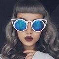 FEIDU 2016 New Fashion Cat Eye Women Sunglasses Brand Designer Retro Round lens Glasses Driving Female Eyewear oculos de sol