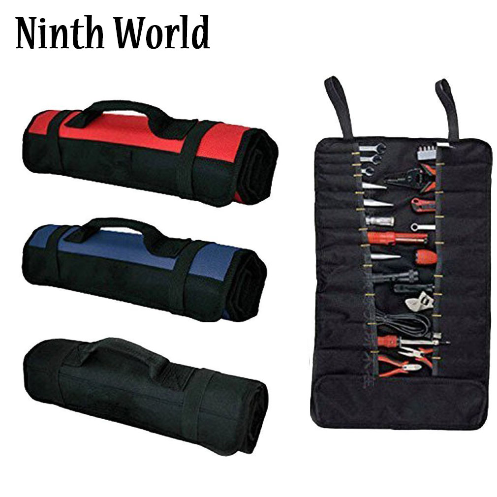 Wrench Roll Up Pouch Black Coiling Block Bag Wera Tools Rolling Organizer Carrier Truck Tool Box Big Tote Carrier Socket Tray