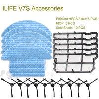 Original Parts Of ILIFE V7S Robot Vacuum Cleaner Mop Efficient HEPA Filter And Side Brush