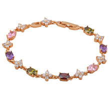 Royal China air express 18K Gold Plated color crystal Bracelets for women <font><b>Health</b></font> Nickel & Lead free fashion jewelry TB413A