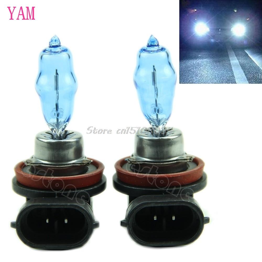 2 x H11 H 11 White HID Xenon 6000K Headlight Bulb 12V 100W New S018Y High