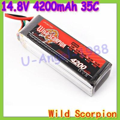 HK Free shipping wild scorpion 100 new Brand RC 14 8V 4200mAh 35C 4S RC Car