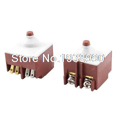 2 x FA6-5/1D-24 DPDT Trigger Switch AC 250V 8A for Bosch Angle Grinder 6-100