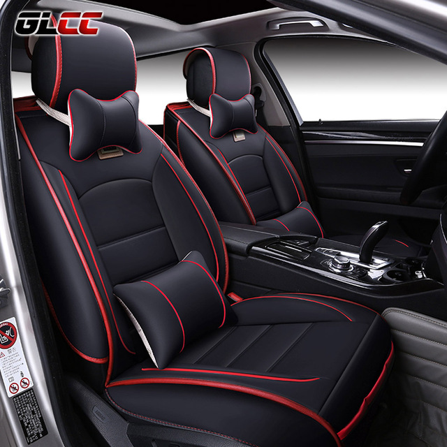 Brand New Luxury PU Leather Car Seat Cover FrontRear Automobile Covers Complete Set Universal 5