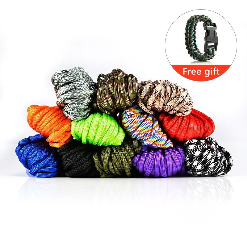 Paracord 550 Parachute Cord Lanyard Tent Rope For Outdoor Hiking Camping Paracord 4mm Survival Bracelet Rope 100ft 550lb nylon paracord parachute cord string rope for camping hiking survival