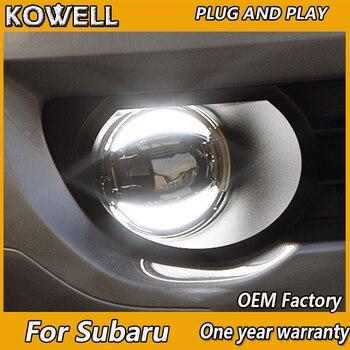 KOWELL Car Styling Fog Lamp for Subaru BRZ XV Impreza Forester LED Fog Light Auto Angel Eye Fog Lamp LED DRL model
