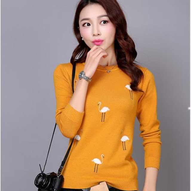 1c087d39dc4 Woman Plus Size Autumn O neck Solid Thick 20% Wool Pullovers Sweater Female  spring Hedging