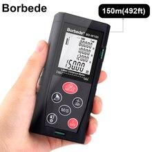 Borbede Laser Distance Meter 80M 100M 120M 150M Handheld Portable Rangefinder Measure Tape