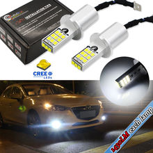 2PC White High Power 1430lums  CR'EE 2835-SMD H3 LED Bulbs For Fog Lights Driving DRL Lamps