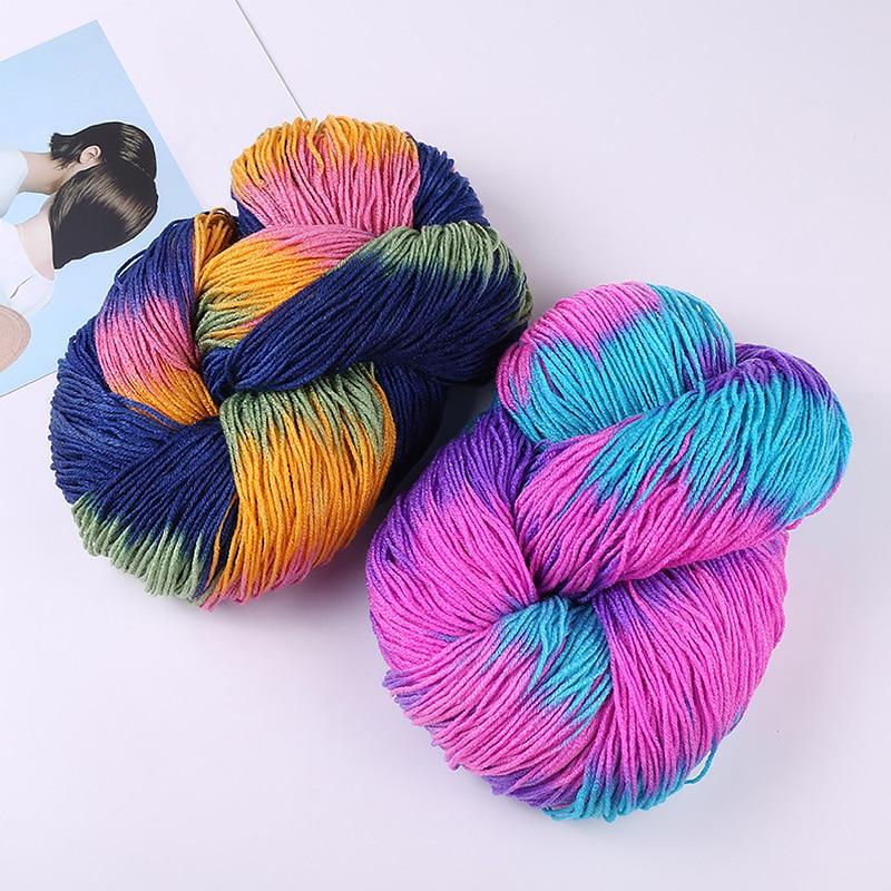 DIY Mix-Colored Knitting Crocheting Thread Hand Knitting 4 Ply Soft Acrylic Yarn