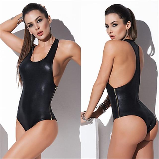 899503896f GLANE Brief 2017 Hot Women Summer One Piece Sleeveless Blouse Leotard Tops  Bodycon Jumpsuits Rompers Bodysuit Beachwear Swimsuit