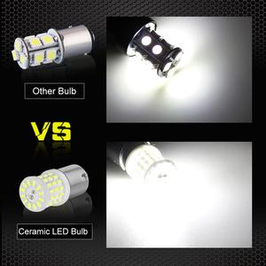Image 5 - 2pcs קרמיקה LED 1156 BA15S P21W LED 1157 BAY15D P21/5 W LED נורות R5W 1200LM לבן רכב איתות בלם אורות 12V אוטומטי מנורה