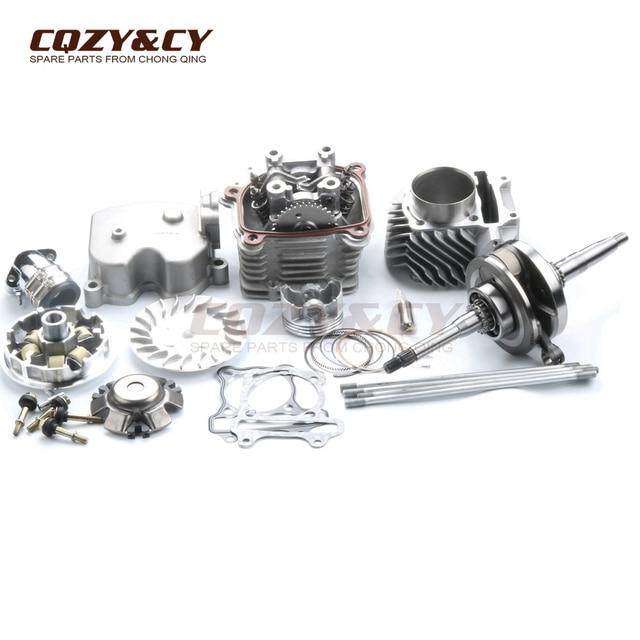 US $411 59 |61mm 180cc 4 valve Racing Big Bore Cylinder & Head Kit & Racing  Crankshaft for SYM Symply / Orbit 150, VS / Red Devil 125 4V-in Engine