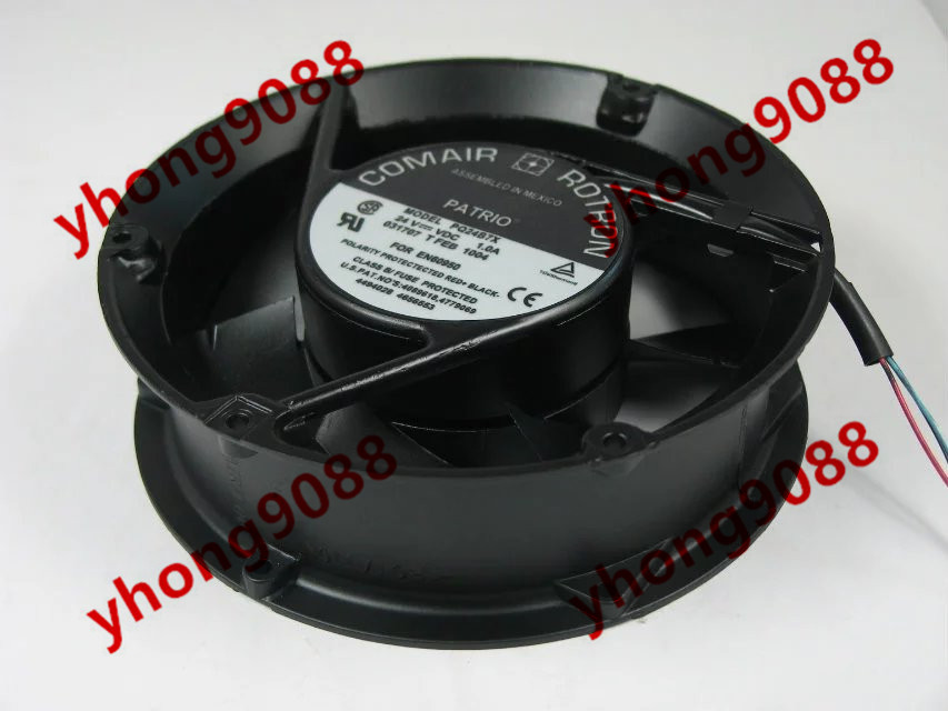 Free Shipping For COMAIR ROTRON PQ24B7X DC 24V 1.0A 3-wire 170X170X50mm Server Round Cooling fan free shipping comair rotron fe24b3 80mm 8cm 8025 dc 24v 2 wire cooling fan