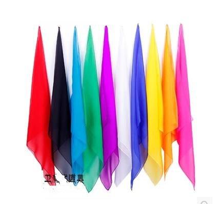 Free Shipping 10 Pcs/Lot Magic Silk 30x30cm ( Random Color ) - Magic Trick, Fun Magic,Party Magic Props,Accessories,Magia Toys