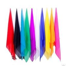 10 шт./партия волшебный Шелковый 30x30 см(случайный цвет)-волшебный трюк, забавная магия, вечерние реквизиты, аксессуары, магические игрушки