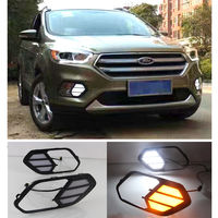 LED DRL Daytime Running Lights DRL Yellow Turn Signals For Ford Kuga Escape 2016 2017