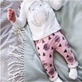 2016 Autumn Fashion Girl's Clothing set cotton long-sleeved T-shirt + cartoon pants newborn baby Set of clothes girl suit SY170