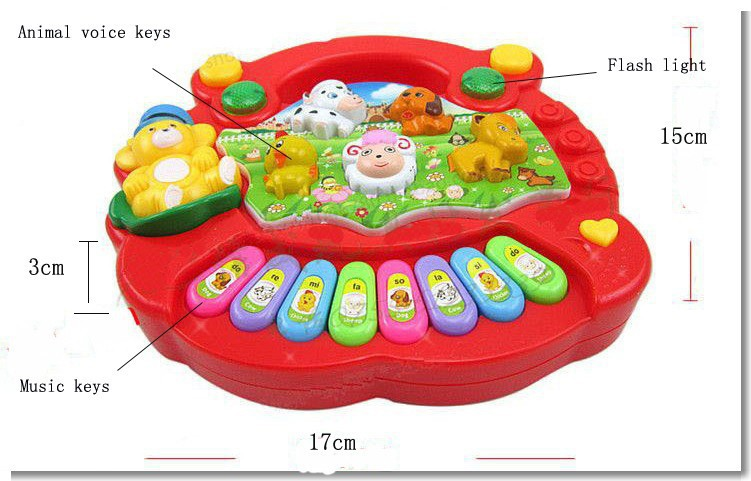 578b7f438274 BOHS Baby Kid s Electrical Farm Animal Sound Keyboard Piano Music Toy-in Toy  Musical Instrument from Toys   Hobbies on Aliexpress.com